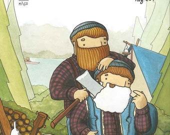 PRINT Beardy Bear Twins
