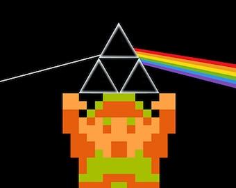 Zelda Dark Side of the Link 8bit pixel Art Print Poster