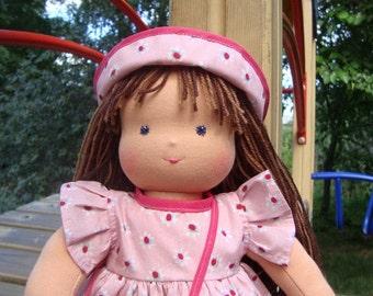 waldorf doll, organic doll, fabric doll, textile doll, rag doll, cloth doll