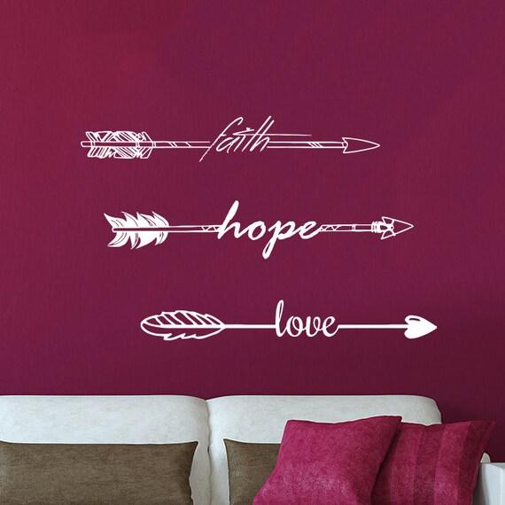 faith hope and love wall decal