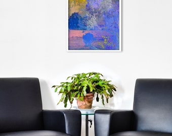 Abstract Landscape GICLEE PRINT of original Digital Collage 'Lilac'