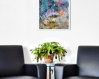 Abstract Landscape GICLEE PRINT of original Digital Collage 'Thread'