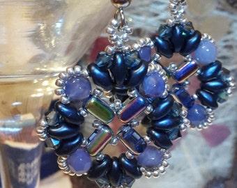 Blue Velvet Earrings