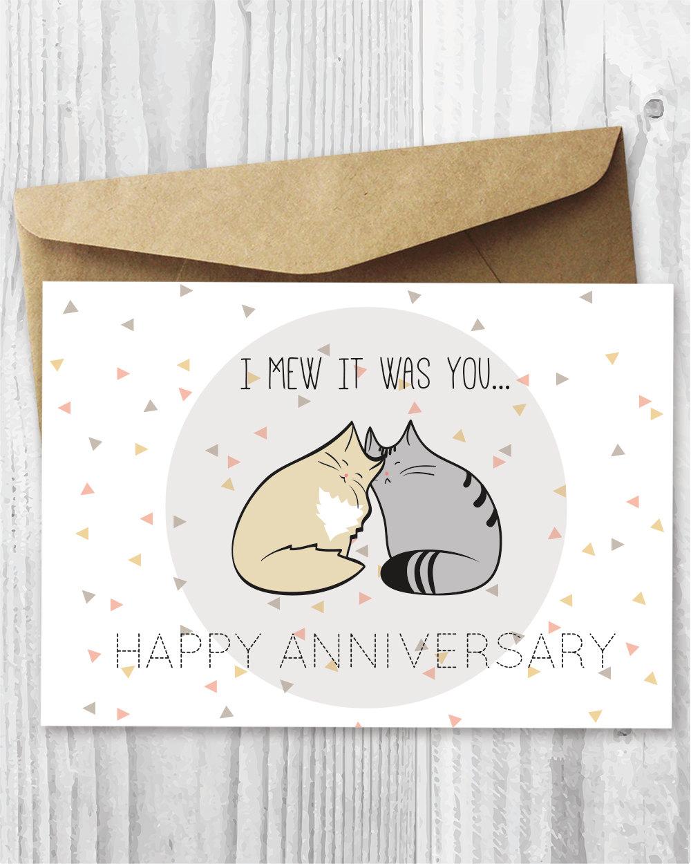 Anniversary card printable romantic