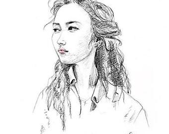 Custom Portrait Pencil Sketches