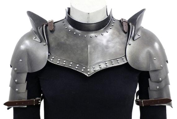 Larp Armor, Medieval Studded Gorget Set