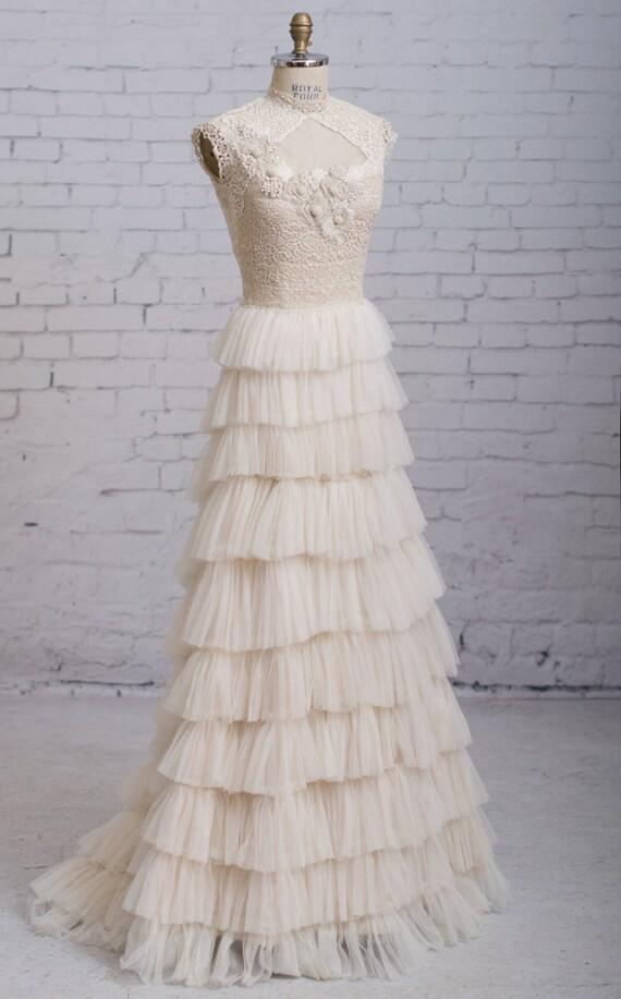 Steampunk wedding dress Victorian wedding dress Vintage