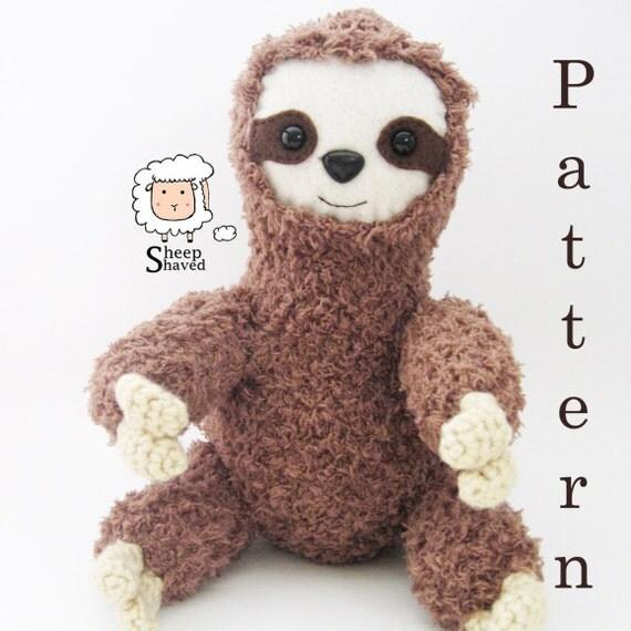 Free Amigurumi Sloth Pattern : Crochet Sloth Amigurumi Pattern PDF format