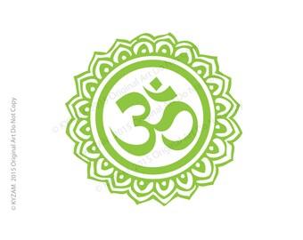 Large Henna OM DECAL Car Decal Bumper Sticker Yoga Om Henna Design Peace
