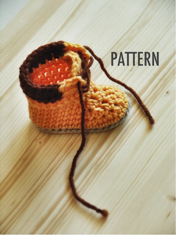 Crochet PATTERN 004 Adventure Boots work boots unisex