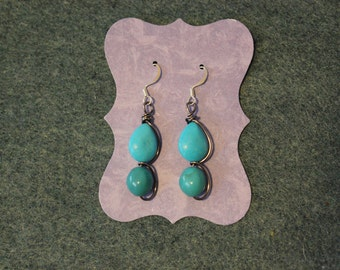 Turquoise wrap earrings