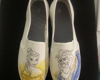 Disney's Beauty and the Beast Belle and Beast Love Themed Shoes