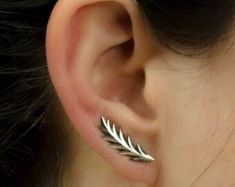 Sterling Silver Ear Cuff Shooting Star Ear Sweep Pin Earrings Boho Jewelry - FES008 T2