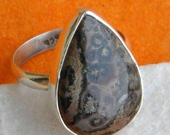 Leopard Jasper ring, 925 sterling silver Ring Leopard Jasper ring Statement Ring, Ring Size 5 6 7 8 9 10  -0115100220