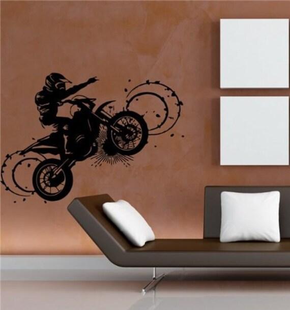 motocross dirt bike wall decal sticker boys by 17 best ideas about dirt bike bedroom on pinterest dirt