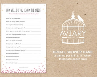 Bubbly & Bliss Bridal Shower Game - How Well Do You Know the Bride?
