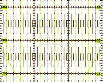 60cm x 15cm Rectangle Quilting Patchwork Grid Ruler Metric