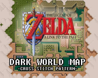 Legend of Zelda: A Link to the Past DARK World Map (PDF Pattern)
