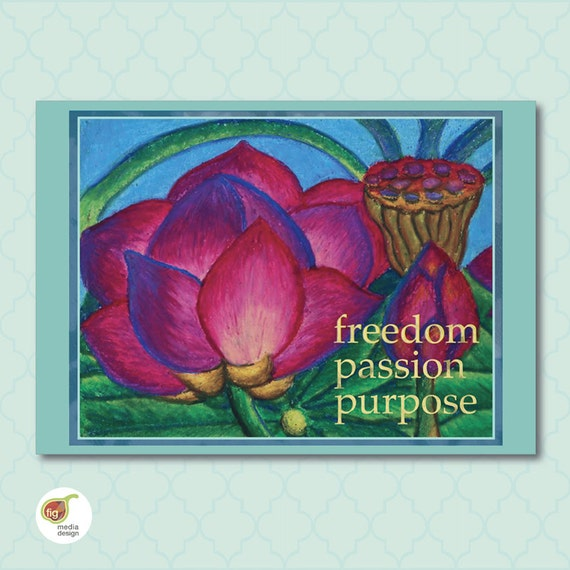 Items Similar To Lotus Flower, Abstract Floral Wall Art