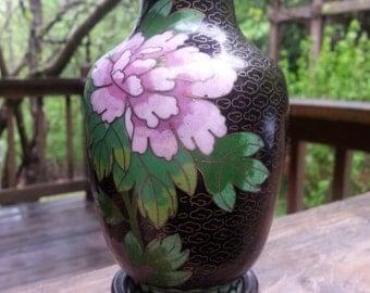 Zi Jin Cheng Cloisonne Vase