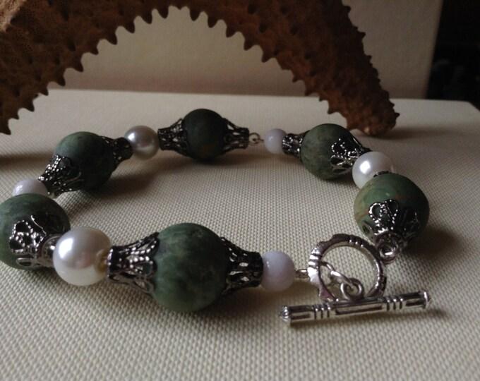 Natural Green Opal Bracelet
