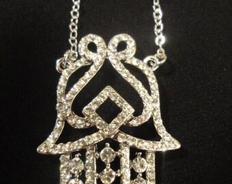 New Beautiful 20'' CZ Rhinestone Silver 25 ''Chain Necklace