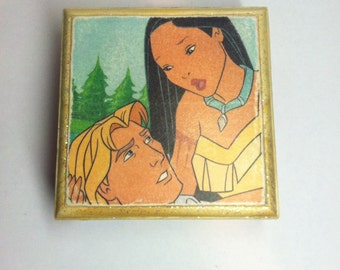 Pocahontas Wooden Keepsake Box