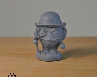 "A Clockwork Orange, Alex Delarge 1,8"" miniature handcrafted solid resin collectable figurine by El Ente"