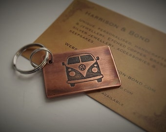Campervan Key Ring, Camper van Key Chain, Voltswagen Camper, VW Camper, VW Campervan, VW Key Chain