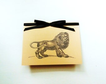 Lion Birthday Card, Leo Card, Lion Stationery, Happy Birthday Card, Lion Thank You Card, Congratulations Card, Groomsmen Cards, All Occasion