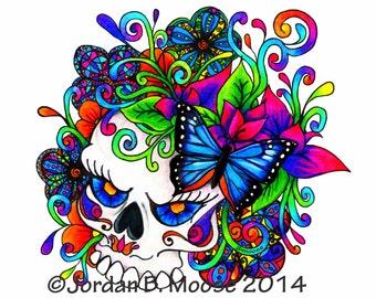 Pretty Butterfly Skull
