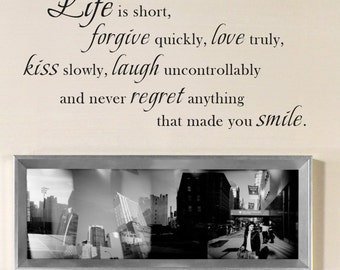 Life Wall Quotes Decal For Living Room Bedroom Great Lettering Sticker 091
