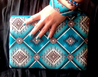 Turquoise Large Clutch