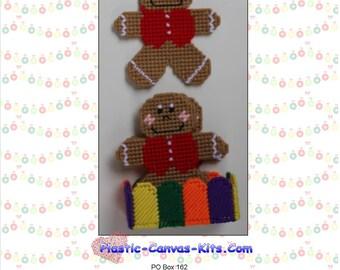 Christmas Gingerbread Man Coaster Set-Plastic Canvas Pattern-PDF Download