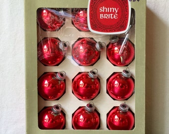 Shiny Bright Vintage Glass Christmas Ornaments, 1950s