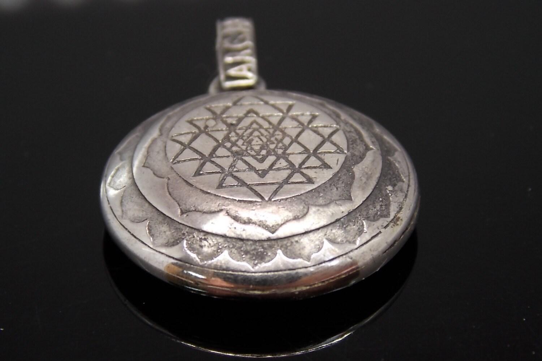 sri yantra pendant sterling silver sri yantra by
