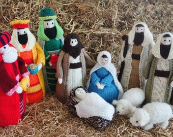Hand Knit Christmas Nativity Set (Made to Order)