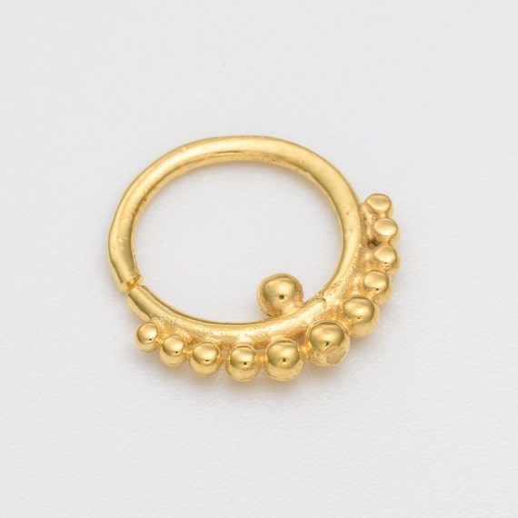 16g gold tribal septum ring for pierced nose gold septum
