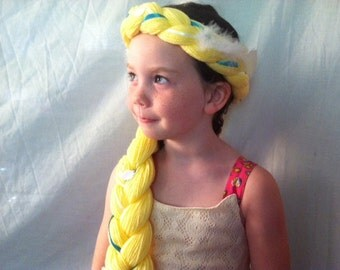 Swan Princess, Odette, Yarn Braids, Kids Costumes, Kids Costume, Swan Queen, Odette costume, White Swan, Princess Hair, Princess Braid