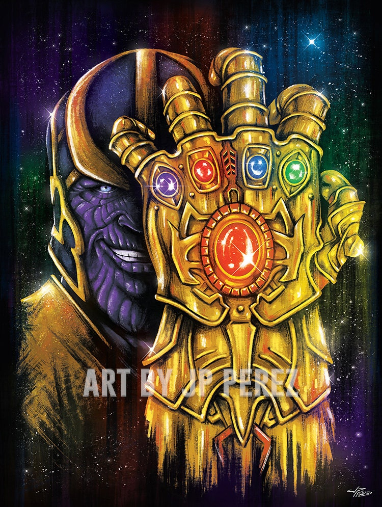 Infinite Power Epic Space Super Villain Painting Poster