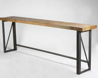 Large INDUSTRIAL Bench - Seat, Chic, reclaimed, cafe, restaurant dining, table
