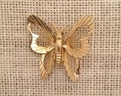 Vintage Gold Monet Wire Butterfly Brooch