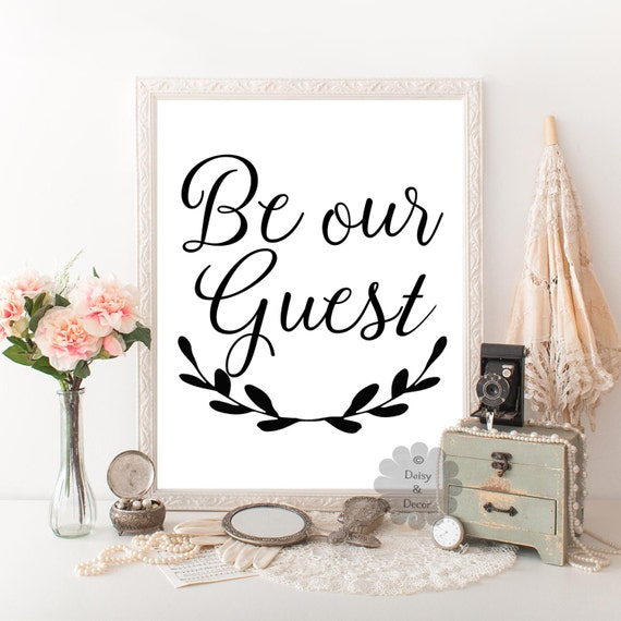 Items Similar To Be Our Guest Quote Art Print Wall Decor