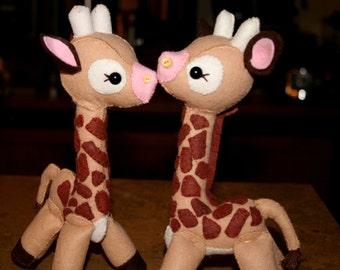 Hand sewn Baby Giraffe