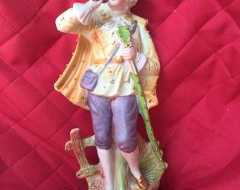 Male Bisque Porcelain Figurine ~ Occupied Japan