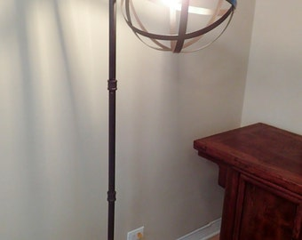 Industrial Pipe Floor Lamp with Vintage Edison Bulb