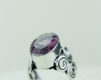 SIZE 6 MYSTIC Topaz 925 S0LID (Nickel Free) Sterling Silver Vintage Setting Ring & FREE Worldwide Express Shipping r1766