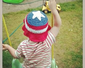 Sun Hat, Cotton Hat, Crochet Hat, Boys Hat, Summer Hat, Boys Sun Hat