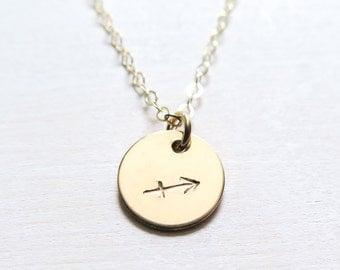 Gold Zodiac Necklace, Gold Filled Zodiac Jewelry, Hand Stamped Zodiac Sign, Personalized Jewelry, Dainty Jewelry, Birthday Gift for Her