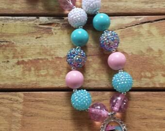 Doc McStuffins Chunky Bubblegum Necklace, Disney Necklace, Doc McStuffins Bubblegum Necklace, Chunky Necklace, Waterproof pendant